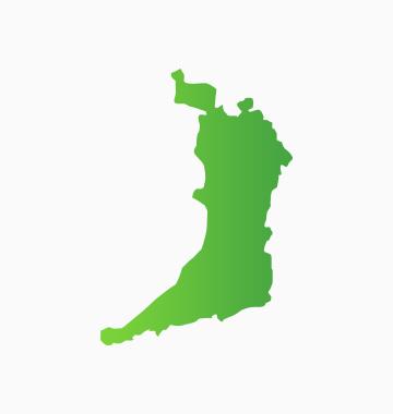 対応地域の地図